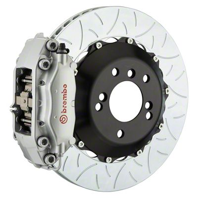 Brembo GT Series 4-Piston Rear Big Brake Kit - 13.6 in. 2-Piece Type 3 Slotted Rotors - Silver (09-10 R/T, SE)