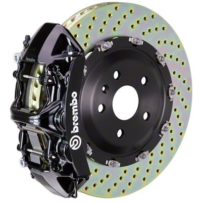 Brembo GT Series 6-Piston Front Big Brake Kit - 15 in. 2-Piece Cross-Drilled Rotors - Black (09-10 R/T)