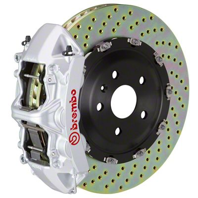 Brembo GT Series 6-Piston Front Big Brake Kit - 15 in. 2-Piece Cross-Drilled Rotors - Silver (09-10 R/T)