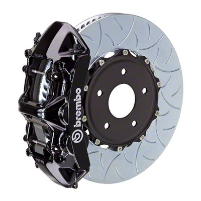 Brembo GT Series 6-Piston Front Big Brake Kit - 15 in. 2-Piece Type 3 Slotted Rotors - Black (09-10 R/T)