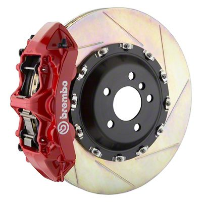 Brembo GT Series 6-Piston Front Big Brake Kit - 14 in. 2-Piece Slotted Rotors - Red (11-19 All, Excluding SRT8)