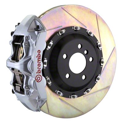 Brembo GT Series 6-Piston Front Big Brake Kit - 14 in. 2-Piece Slotted Rotors - Silver (11-19 All, Excluding SRT8)