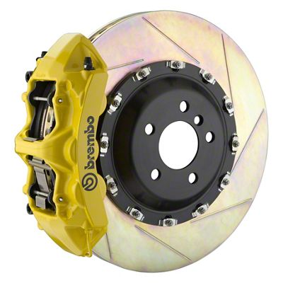 Brembo GT Series 6-Piston Front Big Brake Kit - 14 in. 2-Piece Slotted Rotors - Yellow (11-19 All, Excluding SRT8)