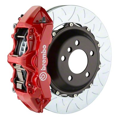 Brembo GT Series 6-Piston Front Big Brake Kit - 14 in. 2-Piece Type 3 Slotted Rotors - Red (11-19 All, Excluding SRT8)
