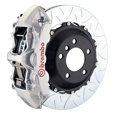 Brembo GT Series 6-Piston Front Big Brake Kit - 14 in. 2-Piece Type 3 Slotted Rotors - Silver (11-19 All, Excluding SRT8)