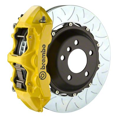 Brembo GT Series 6-Piston Front Big Brake Kit - 14 in. 2-Piece Type 3 Slotted Rotors - Yellow (11-19 All, Excluding SRT8)
