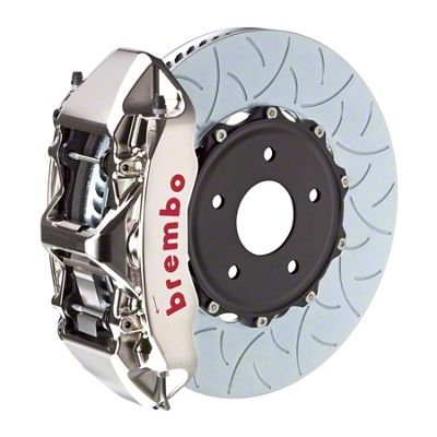 Brembo GT-R Series 6-Piston Front Big Brake Kit - 14 in. 2-Piece Type 3 Slotted Rotors - Nickel Plated (11-18 All, Excluding SRT8)