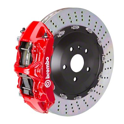 Brembo GT Series 6-Piston Front Big Brake Kit - 15 in. 2-Piece Slotted Rotors - Red (11-19 V8 HEMI, Excluding SRT8)