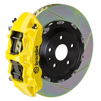 Brembo GT Series 6-Piston Front Big Brake Kit - 15 in. 2-Piece Slotted Rotors - Yellow (11-19 V8 HEMI, Excluding SRT8)