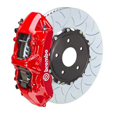 Brembo GT Series 6-Piston Front Big Brake Kit - 15 in. 2-Piece Type 3 Slotted Rotors - Red (11-19 V8 HEMI, Excluding SRT8)