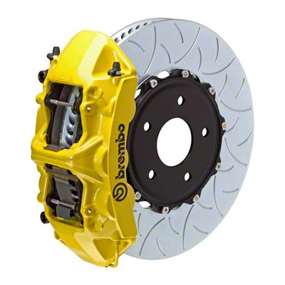 Brembo GT Series 6-Piston Front Big Brake Kit - 15 in. 2-Piece Type 3 Slotted Rotors - Yellow (11-19 V8 HEMI, Excluding SRT8)