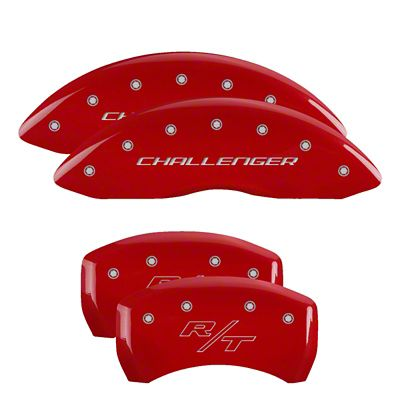 MGP Red Caliper Covers w/ Vintage Style R/T Logo - Front & Rear (09-10 R/T)