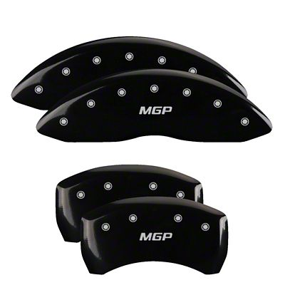 MGP Black Caliper Covers w/ MGP Logo - Front & Rear (2011 SE; 12-18 SXT w/ Single Piston Front Caliper)