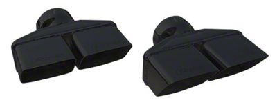 Pypes 3 in. Dual Rectangle Exhaust Tips - Black (08-14 All)