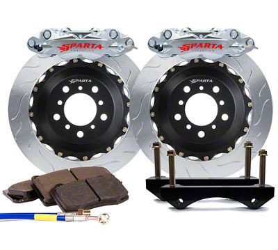 Sparta Evolution Triton-R Rear Big Brake Kit - Machined Silver (08-19 All)