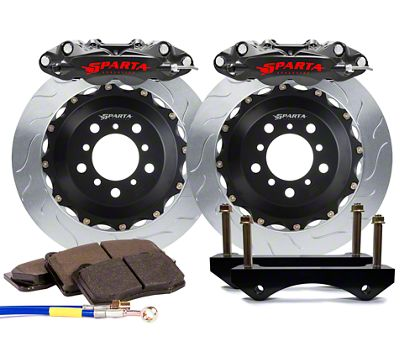 Sparta Evolution Triton-R Rear Big Brake Kit - Stealth Gray (08-19 All)
