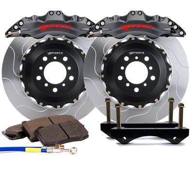 Sparta Evolution Triton Front Big Brake Kit - Stealth Gray (08-19 All)