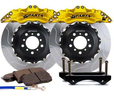 Sparta Evolution Triton Front Big Brake Kit - Yellow (08-19 All)
