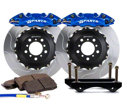 Sparta Evolution Triton Rear Big Brake Kit - Anodized Signature Blue (08-19 All)
