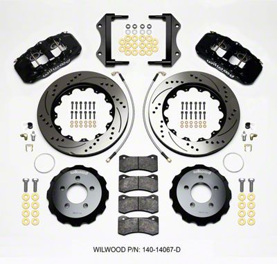 Wilwood AERO6 Front Brake Kit w/ Drilled & Slotted Rotors - Black (12-15 R/T, Rallye Redline, SXT)