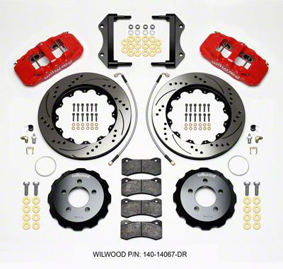Wilwood AERO6 Front Brake Kit w/ Drilled & Slotted Rotors - Red (12-15 R/T, Rallye Redline, SXT)