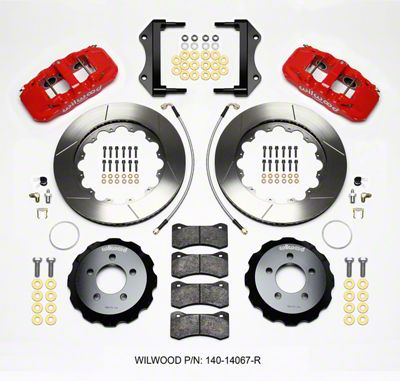 Wilwood AERO6 Front Brake Kit w/ Slotted Rotors - Red (12-15 R/T, Rallye Redline, SXT)