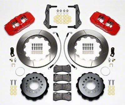 Wilwood AERO4 Rear Brake Kit w/ Slotted Rotors - Red (12-15 R/T, Rallye Redline, SXT)