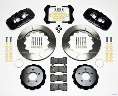 Wilwood AERO6 Front Brake Kit w/ Slotted Rotors - Black (09-11 R/T, SE)