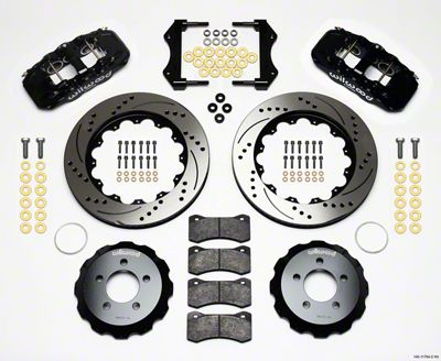 Wilwood AERO6 Front Brake Kit w/ Drilled & Slotted Rotors - Black (09-11 R/T, SE)