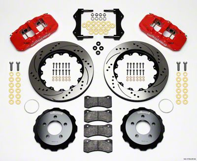 Wilwood AERO6 Front Brake Kit w/ Drilled & Slotted Rotors - Red (09-11 R/T, SE)