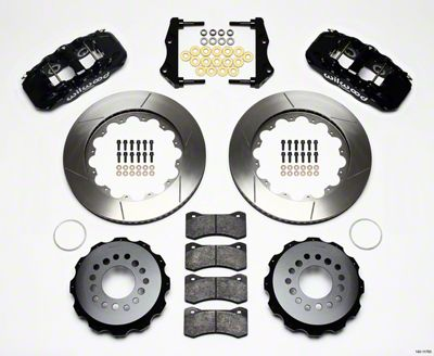 Wilwood AERO4 Rear Brake Kit w/ Slotted Rotors - Black (09-11 R/T, SE)