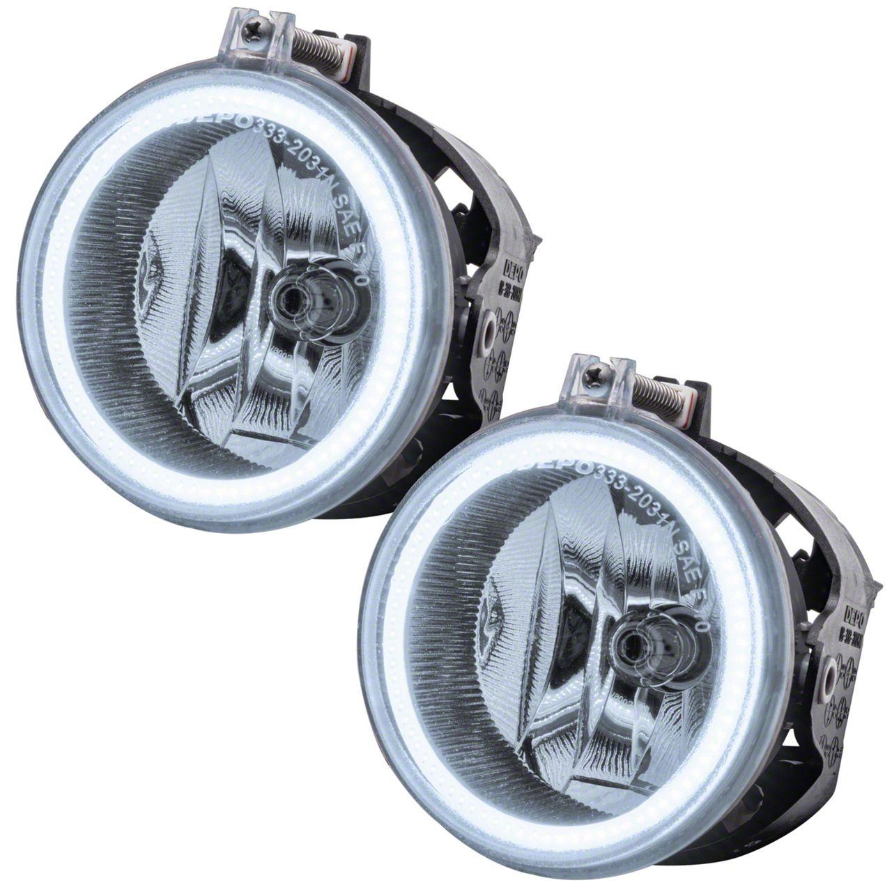 Oracle Chrome OE Style Headlights w/ Plasma Halos (11-14 w/ Halogen Fog Lights)