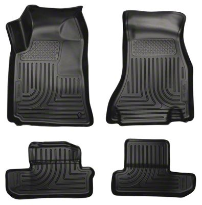 Husky WeatherBeater Front & Row Floor Liners - Black (08-10 All)