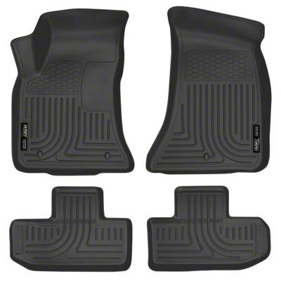 Husky WeatherBeater Front & Row Floor Liners - Black (16-19 All)
