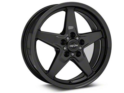 Race Star 92 Drag Star Dark Star Black Chrome Wheel - Direct Drill - 17x7 (08-19 All, Excluding Demon & Hellcat)