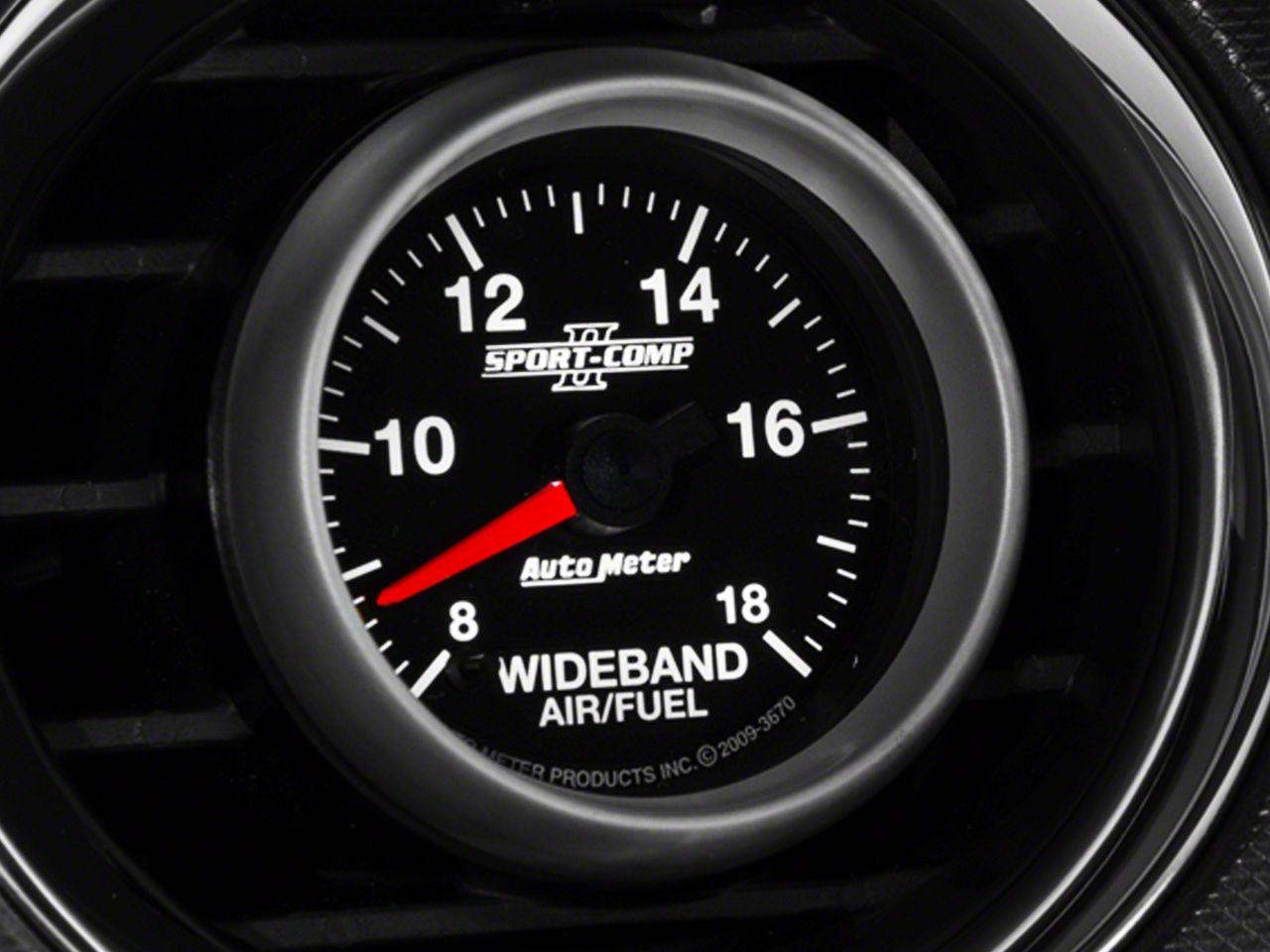Auto Meter Sport Comp II Wideband Air/Fuel Ratio Gauge - Analog (08-18 All)
