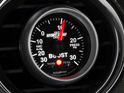 Auto Meter Sport Comp II Boost/Vac Gauge w/ Warning Light - Electrical (08-19 All)