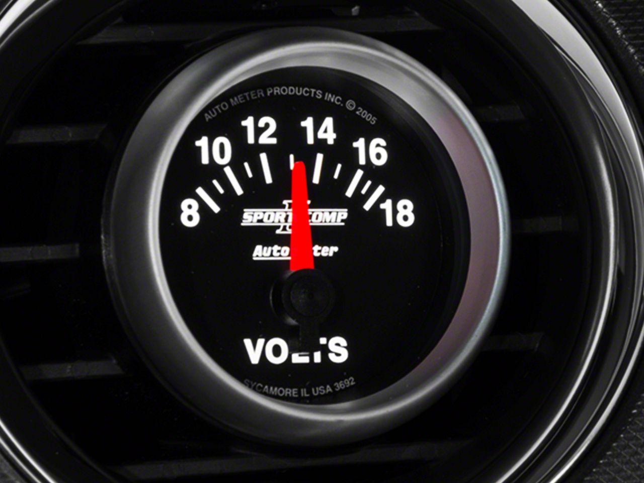 Auto Meter Sport Comp II Voltmeter Gauge - Electrical (08-18 All)