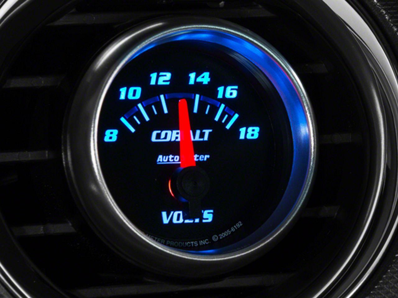 Auto Meter Cobalt Voltmeter Gauge - Electrical (08-18 All)