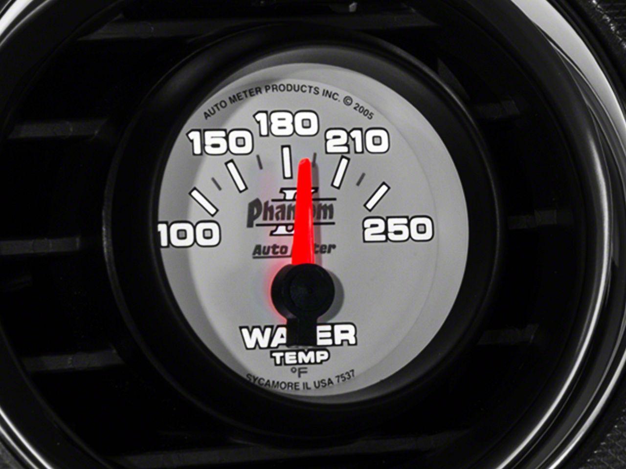 Auto Meter Phantom II Water Temp Gauge - Electrical (08-18 All)