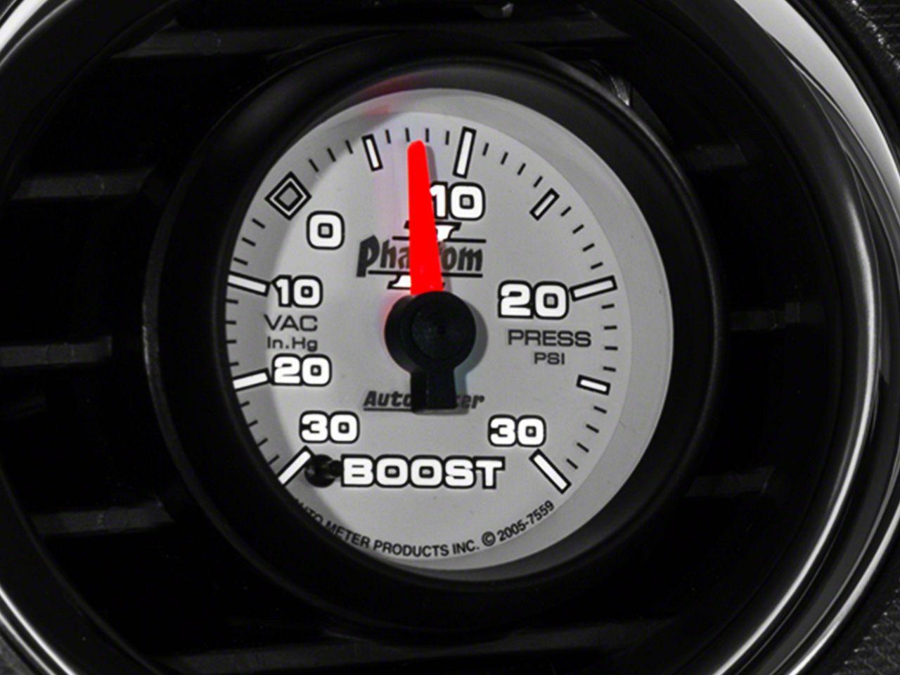 Auto Meter Phantom II 30 PSI Boost/Vac Gauge - Electrical (08-18 All)