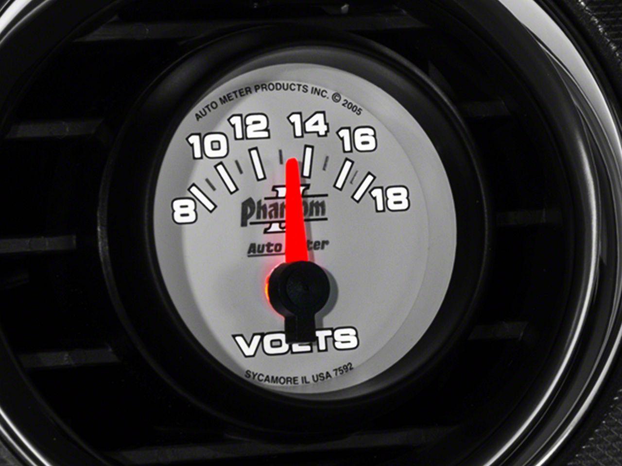 Auto Meter Phantom II Voltmeter Gauge - Electrical (08-18 All)