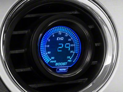 Prosport Dual Color Digital 35 PSI Boost/Vac Gauge - Electrical - Blue/Red (08-19 All)