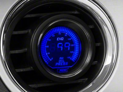 Prosport Dual Color Oil Pressure Digital Gauge - Electrical - Blue/Red (08-19 All)