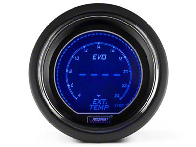 Prosport Dual Color Digital Exhaust Gas Temp Gauge - Electrical - Blue/Red (08-19 All)