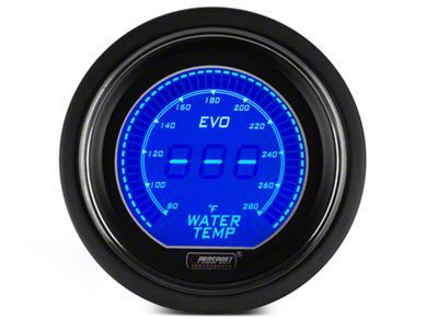Prosport Dual Color Digital Water Temp Gauge - Electrical - Blue/Red (08-19 All)
