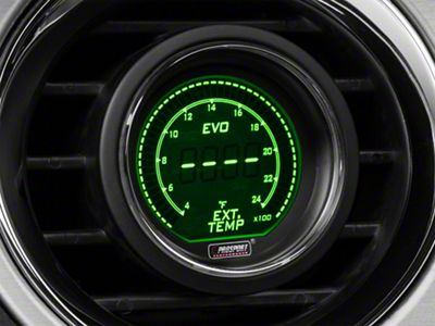 Prosport Dual Color Digital Exhaust Gas Temp Gauge - Electrical - Green/White (08-19 All)