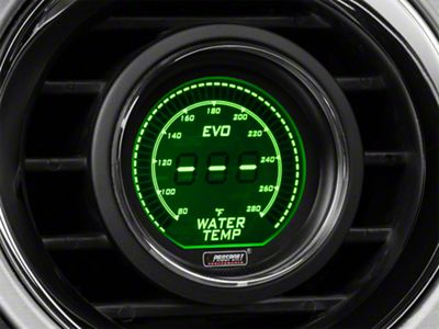Prosport Dual Color Digital Water Temp Gauge - Electrical - Green/White (08-19 All)