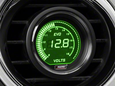 Prosport Dual Color Digital Voltmeter Gauge - Electrical - Green/White (08-19 All)