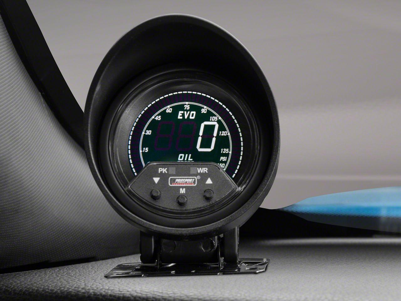 Prosport Premium Quad Color Oil Pressure Digital Gauge - Electrical (08-19 All)